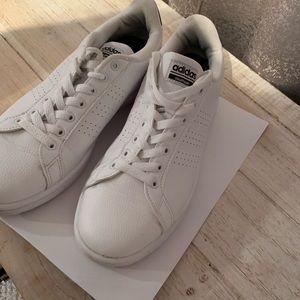 Adidas, all white